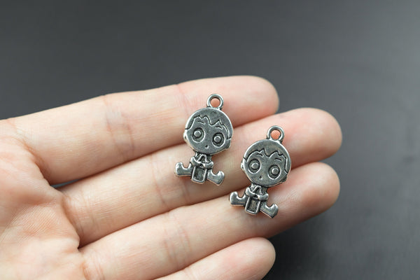 10 Baby Pewter Charms 13x24mm 1007-10305