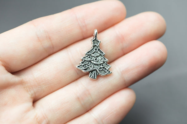 10 Christmas Tree Charms 17x24mm 1163-0469
