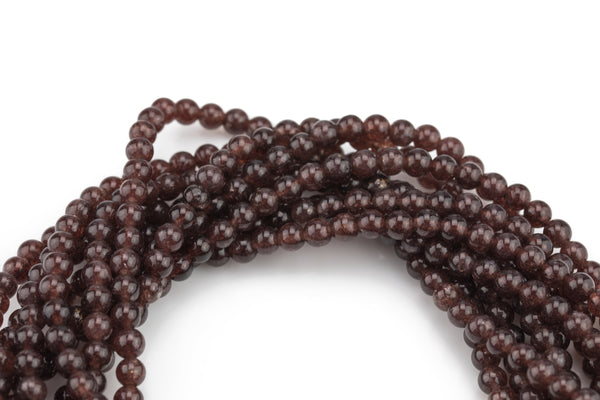 Brandy Jade, High Quality in Smooth Round- 6mm, 8mm, 10mm, 12mm   -Full Strand 15.5 inch Strand