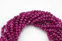 Berry Jade- Faceted Round 4mm 6mm 8mm 10mm 12mm - Single or Bulk - 15.5""