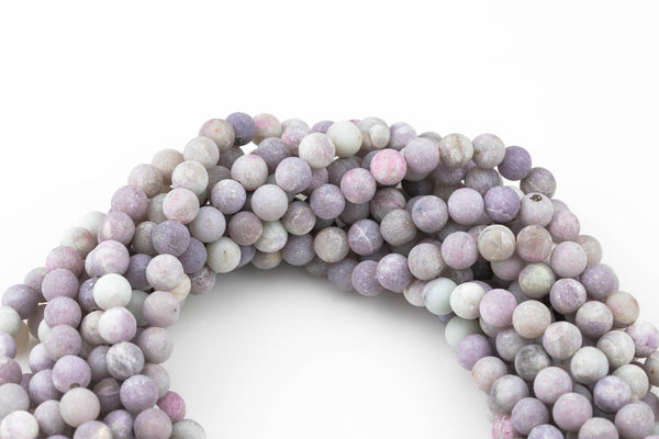 Gorgeous Pale Pink Tourmaline, High Quality in Matte Round, 4mm, 6mm, 8mm, 10mm, 12mm, 14mm-Full Strand 16 inch Strand AAA Quality