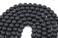 "A Grade Matte Black Onyx Beads, High Quality in Faceted Round, Full Strand, 4mm 6mm 8mm 12mm or 14mm Beads- Full 15.5""  Wholesale Pricing"