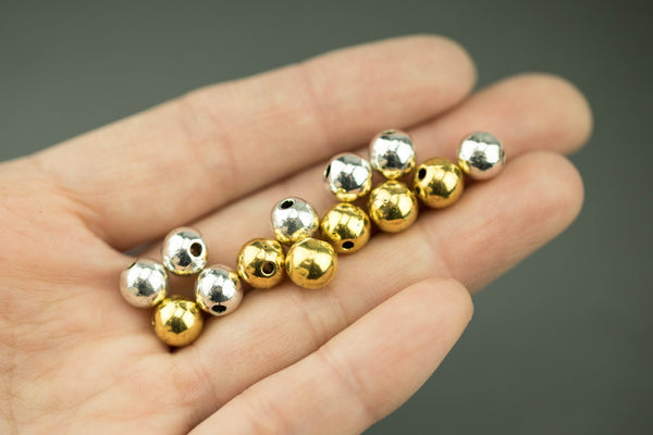 12 Ball  PEWTER Beads 8mm 443-8277