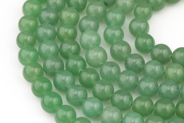 Gorgeous Green Aventurine Adventrine, High Quality in Smooth Round, 4mm, 6mm, 10mm, 12mm- Full 15.5 Inch Strand- Wholesale Pricing