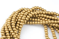 Gold Wood Beads: Off round Round Wooden 6mm 8mm 10mm 12mm 16mm 20mm Boho  Beads High Quality with 2mm Holes -15.5 inch strand AAA Quality