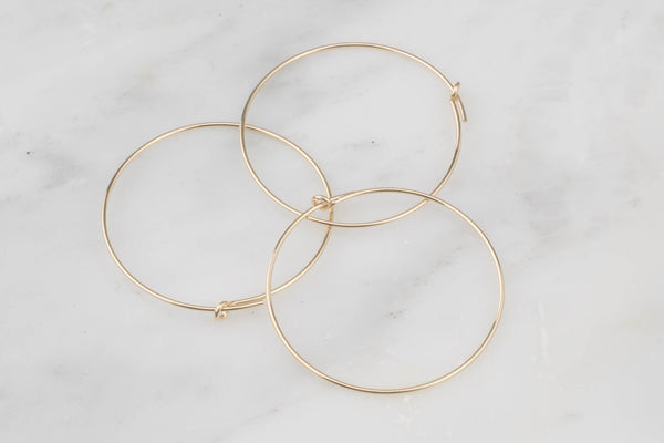 Gold Filled Hoop Earing- 14/20 Gold Filled- USA Product-20mm-30mm-45mm- 2 pieces per order- 1 pairs