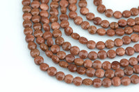 Sandstone- Full Strands-15.5 inches-6mm-  Nice Size Hole- Diamond Cutting,High Facets-Nice and Sparkly-Faceted Coin