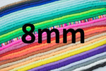 2str 8mm BEAUTIFUL Soft AFRICAN Colored VINYL Heishi beads Clay Disc - 16 inch strand- 2 Strands Per Order- Assorted Colors