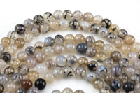 Gray Fire Agate, High Quality in Smooth Round, 6mm, 8mm, 10mm, 12mm- Full 16 inch strand