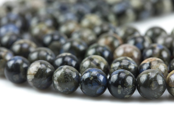 Gorgeous Black Opal, High Quality Round- 8mm, 10mm, 12mm-Full Strand 15.5 inch Strand