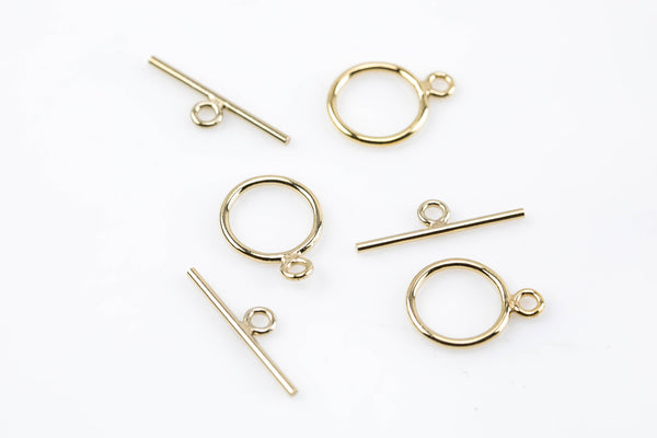 GOLD FILLED Toggle Clasp USA product- 1 Set per order- 10mm