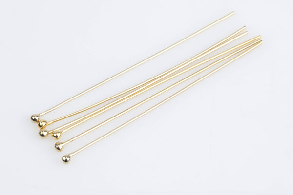Gold Filled Ball Pin- 24 Ga- 14/20 Gold Filled- USA Product-1.5 Inches- 8 pieces per order
