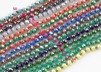 6mm- Single Wrap Knotted crystal necklaces. Long Hand-Knotted Crystal- 36inches long! - Long Necklace
