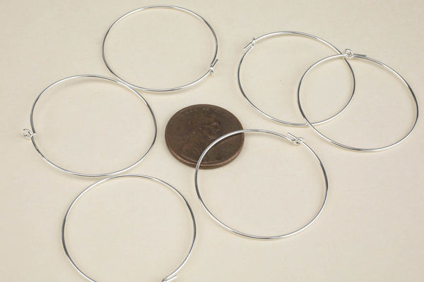 925 Sterling Silver Hoops- 14/20 Gold Filled- USA Product-20mm-30mm-45mm- 2 pieces per order- 1 pairs