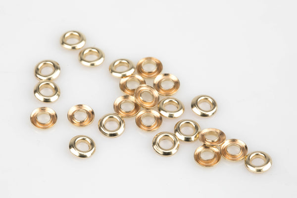 Gold Filled 3mm 4mm Beads Grommet Hole size 2mm 3mm