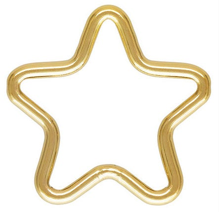 Gold Filled Star Ring- 1420 Gold Filled- Made in USA- 10mm- 4 pcs per order