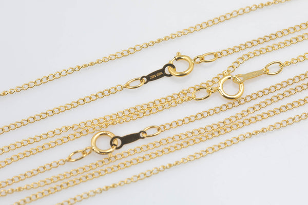 14 kt Gold Filled Curb Necklace- 14/20 Gold Filled- Stamped- USA Made - Assorted Length- Read to Wear- 1.5mm