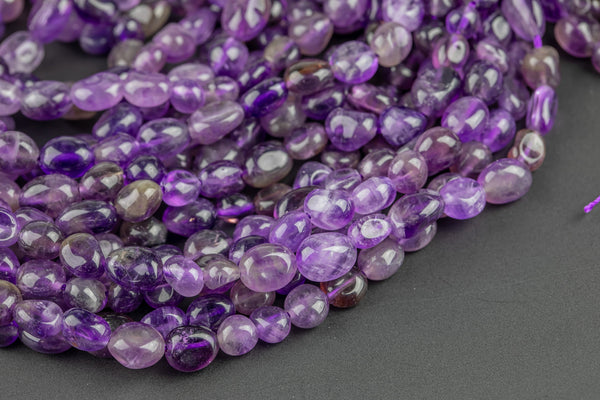 Natural Amethyst Nuggets Beads -16 Inch strand - Wholesale pricing AAA Quality- Full 16 inch strand Gemstone Beads