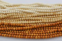 Natural Ox Bone Beads, semi round, 8mm,10mm,12mm plus 3 colors.
