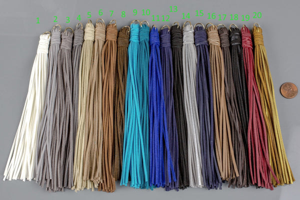 2 Pcs-- Suede TASSEL Tassles High Quality 7.5 inches Extra long  and Thick