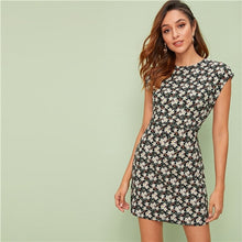 Load image into Gallery viewer, Floral Fit And Flare Dress