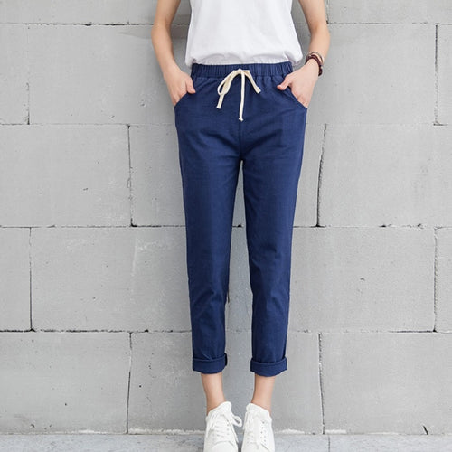 Cotton Linen Long Pants