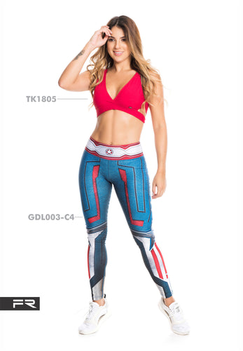 Fiber Super Heroes Collection GDL003-C4 Women Leggings - Fitness People Sportswear