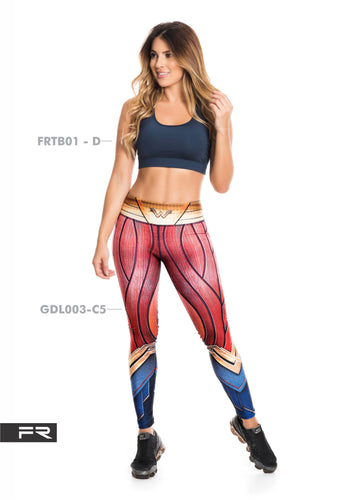 Fiber Super Heroes Collection GDL003-C5 Wonder Women Leggings - Fitness People Sportswear