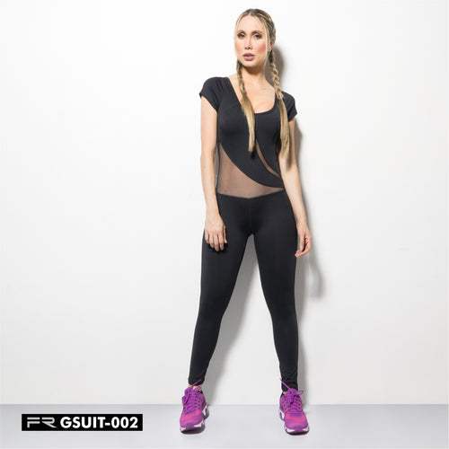 Jumpsuit Suplex / Mesh panels Fiber - Fitness People Sportswear