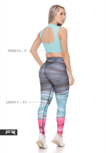 Fiber Authentic Collection L00011-C1 T00013-C Women Leggings - Fitness People Sportswear