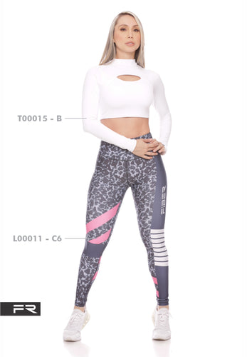 Fiber Authentic Collection L00011-C6 T00015-B Women Leggings - Fitness People Sportswear