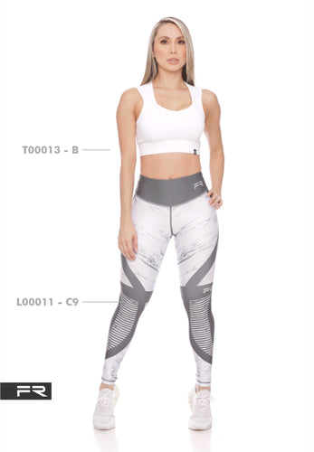 Fiber Authentic Collection L00011-C9 T00013-B Women Leggings - Fitness People Sportswear