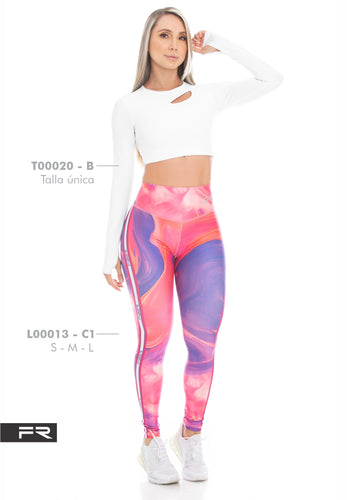 Fiber Runway Collection L00013 - C1 T00020 - B Women Leggings - Fitness People Sportswear
