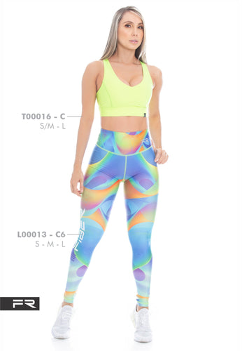 Fiber Runway Collection L00013 - C6 T00016 - C Women Leggings - Fitness People Sportswear