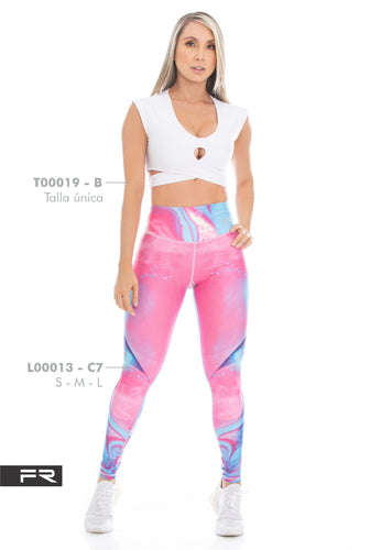Fiber Runway Collection L00013 - C7 T00019 - B Women Leggings - Fitness People Sportswear