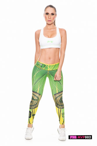 Fiber Football Collection Green Bay Packers MVP002 Women Leggings - Fitness People Sportswear