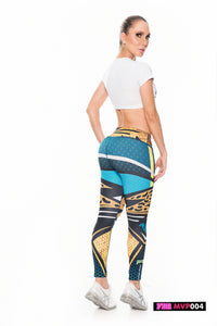 Fiber Football Collection Jacksonville Jaguars MVP004 Women Leggings - Fitness People Sportswear