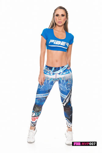 Fiber Football Collection Dallas Cowboys MVP007 Women Leggings - Fitness People Sportswear