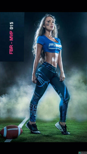 Fiber Football Collection Carolina Panthers Women Leggings - Fitness People Sportswear