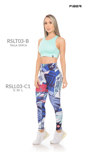 Fiber RSLL03-C1 Resilient Collection Women Leggings - Fitness People Sportswear