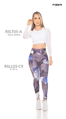 Fiber RSLL03-C9 Resilient Collection Women Leggings - Fitness People Sportswear