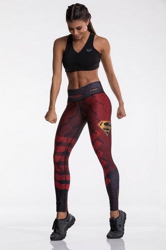 Drakon Super Heroes Collection Superman Leggings - Fitness People Sportswear