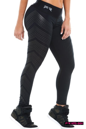 Fiber BLACK THORN ESPINA Women Leggings with Silicone details - Fitness People Sportswear