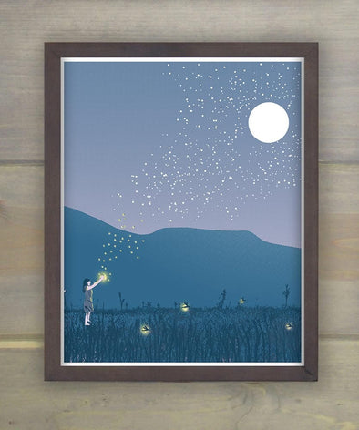 Summer Fireflies Print