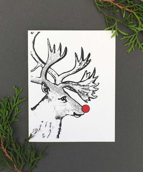 Glow-in-the-Dark Rudolph Holiday Card