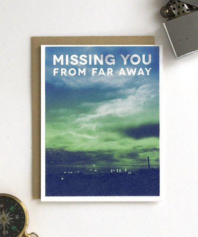 Missing You From Far Away Card