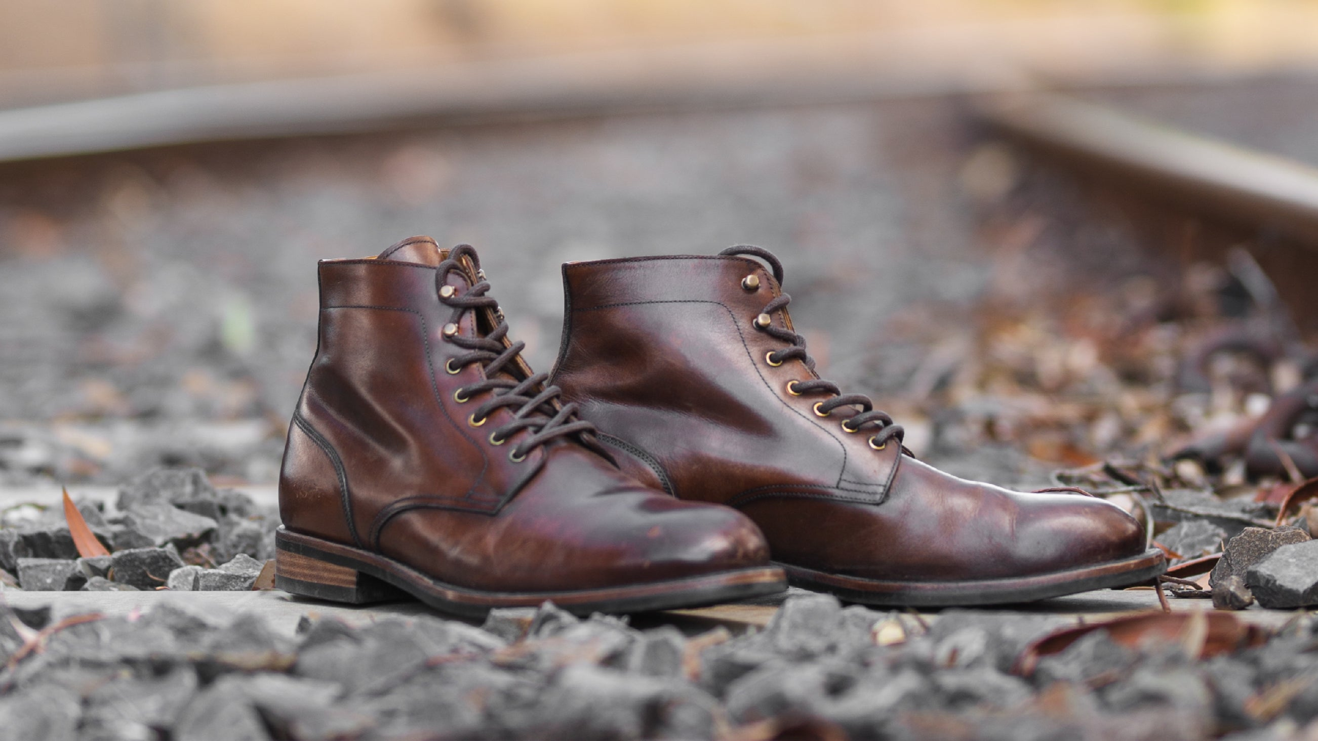 A pair of well worn Turon service boots, looking better with age