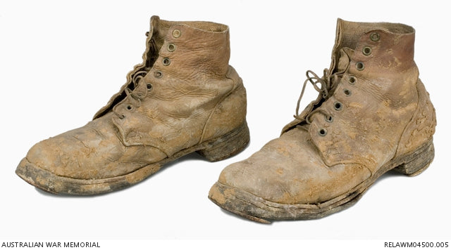 1916 service boots Australian Imperial Forces