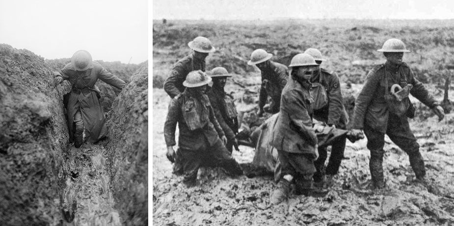 Australian service boots were no match against the muddy trenches