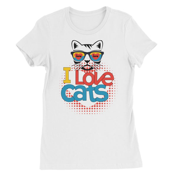 I Love Cats Womens Favourite T-Shirt